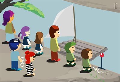 A cruzar el rio
