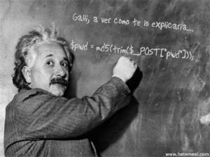Einstein enseñando a Ricardo Galli