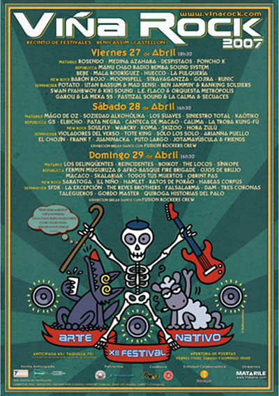Cartel del Viña Rock 2007