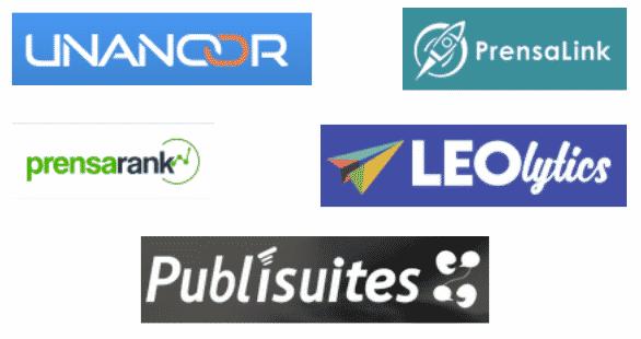 Logos de las plataformas analizados en la comparativa de servicios de linkbuilding